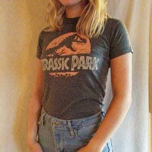 Urban Outfitters Jurassic Park Grey T-Shirt